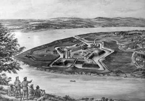 Fort Pitt in 1776.