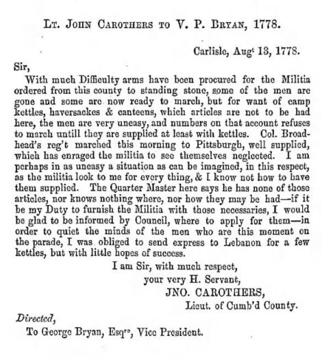PA Archives, Ser. 1, Vol. 6, Page 700.