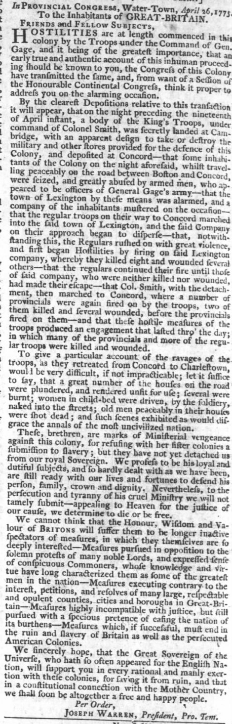 PA Gazette 17 May 1775