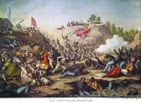 Fort Pillow Massacre, 1864 Painting; Fort Pillow Massacre, 1864 Art Print for sale