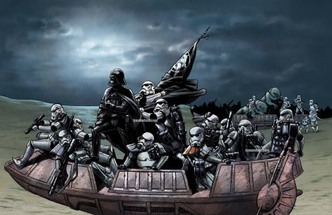 Imperials Crossing Tatooine.
